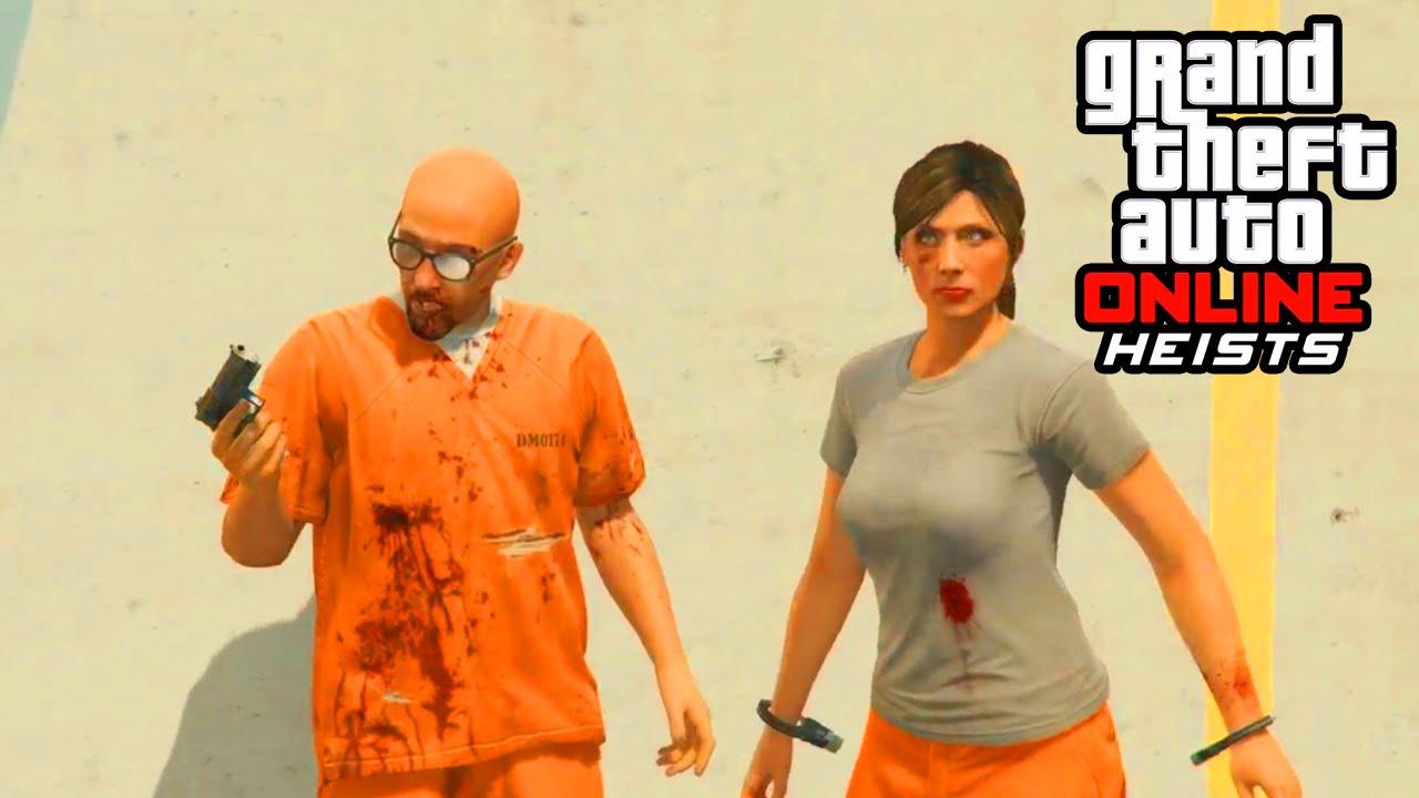 Gta 5 Heist Prison Break Full Heist Gameplay Gta 5 Heist Dlc Gameplay Youtube