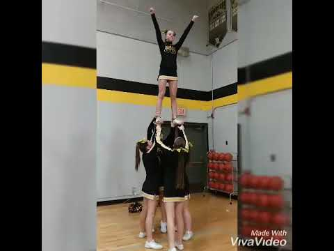 South Umpqua High School Varsity Cheer Stunts 2018