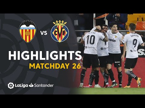 Valencia Villarreal Goals And Highlights