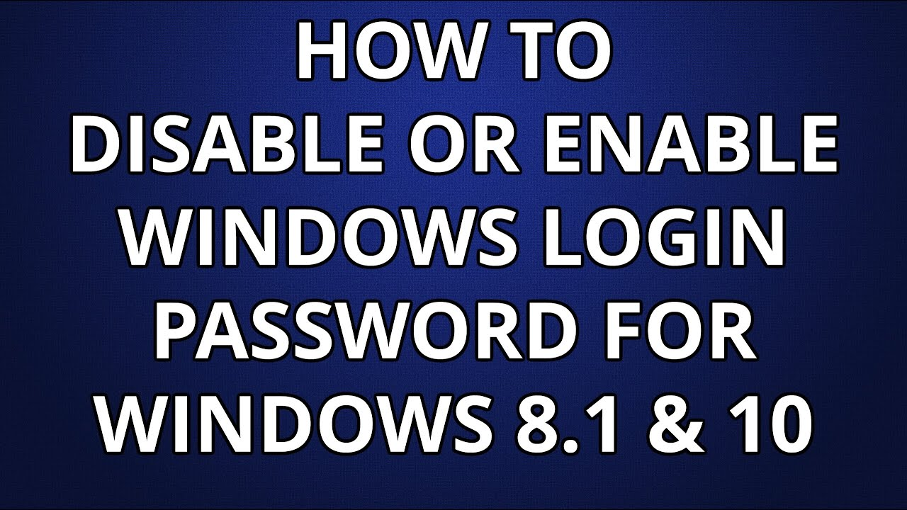 how to turn off password windows 8