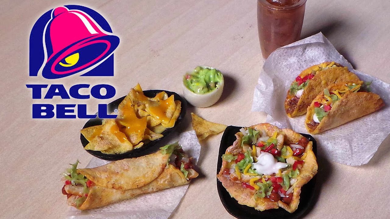 Taco bell inspired miniatures polymer clay tutorial for Polymere cuisine