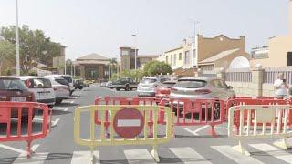 Policía Nacional custodia el hotel de Adeje (Tenerife)