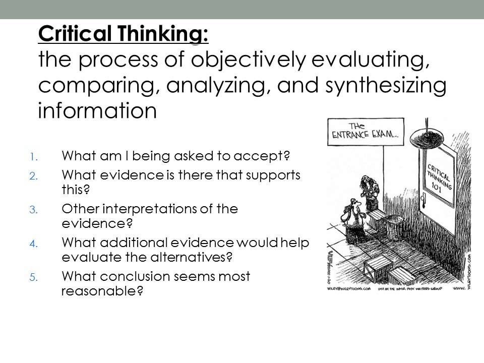 critical thinking research paper A look at how evaluation, analysis, and synthesis can help a writer improve research writing skills.