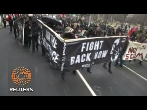 DC anti-Trump protests get violent