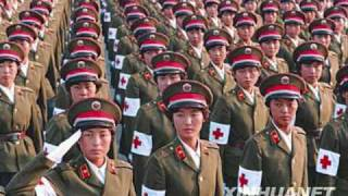 Chinese army girls in 1984, 1999, 2009 y