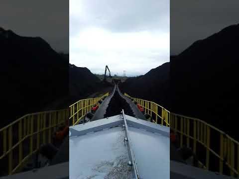 Ленточный конвейер 200 метров для ООО «Угольный Морской Порт Шахтерск» (о. Сахалин) видео 1