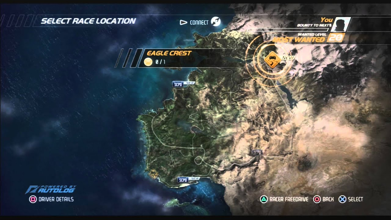 Ps3 Need For Speed Hot Pursuit Max Bounty Level Save Youtube