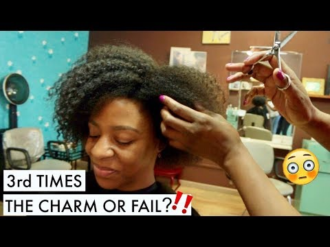 I Went To A REAL Natural Hair Salon & Got A REAL DEVA CUT | T'keyah B