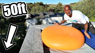 GIANT 6ft WATER BALLOON DROP TEST OF ROOF!!