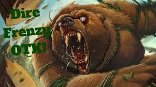 Dire Frenzy Young Dragonhawk OTK! Huge Burst! [Hearthstone Game of the Day]