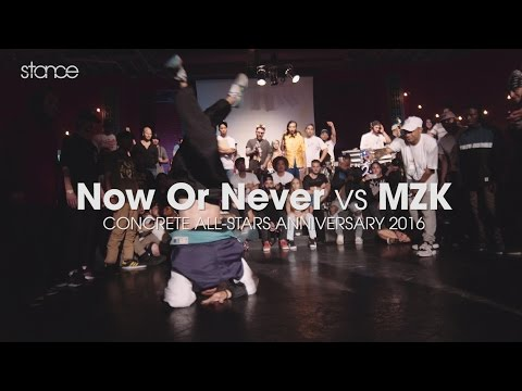 Now or Never vs MZK // .stance // Concrete All-Stars Anniversary 2016