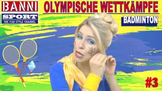 BADMINTON #3 - Olympic Wettkampf - Exklusiv Original Banni Sport Fan Style Make-up Tutorial