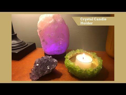 DIY | Crystal Candle Holder