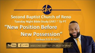 Second Baptist Church of Reno Bible Study... LIVE! ~ Tuesday 7p PT