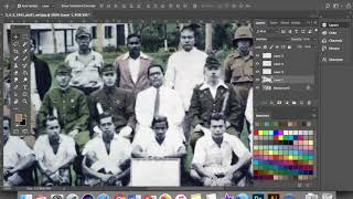 ✌️WORK IN PROGRESS : 'Color Restoration' Gambar Tunku Bersama Pegawai Tentera Jepun