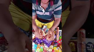 New SOME LOT'S OF CANDIES more chocolate mouth watering video ASMR MUKBANG 16 #shorts #tiktok candy