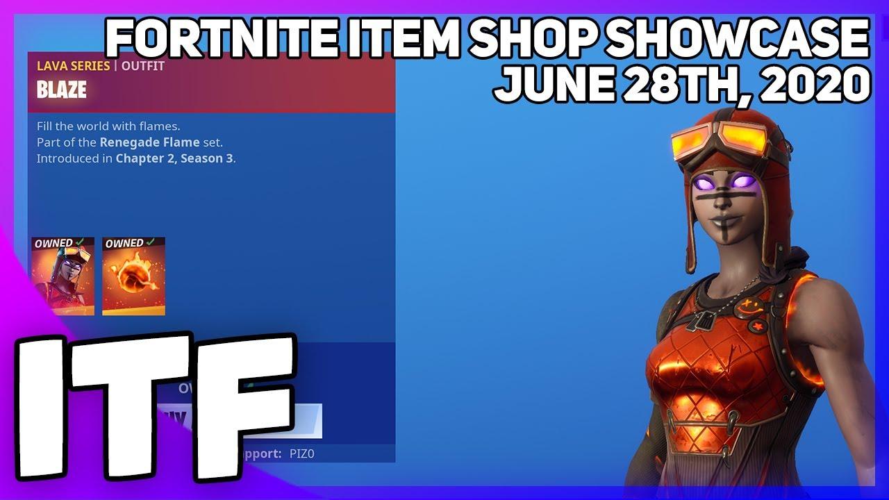 Fortnite Item Shop BLAZE IS STILL HERE! [June 28th, 2020] (Fortnite Battle Royale)