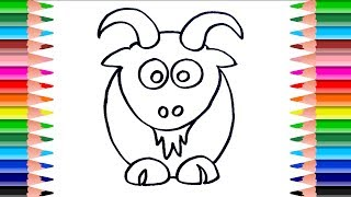 How to Draw a Goat. Drawing for Children. Learn Coloring