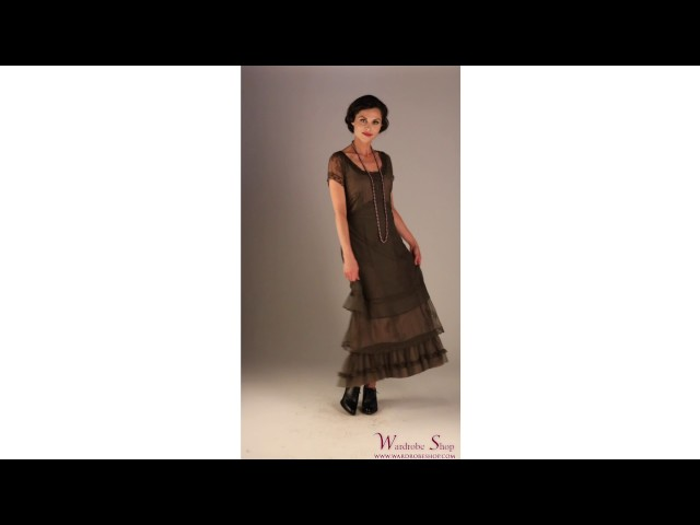 Arrianna Vintage Style Party Dress CL-169 in Olive by Nataya