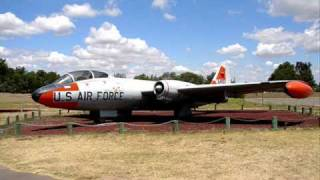 B 57 ACTUAL SOUNDS from start up  to taxi to takeoff and fly-by