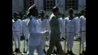 Rajiv Gandhi attacked & Hit by a Sri Lankan Soldier in 1987 at Colombo  (Coloured footage)