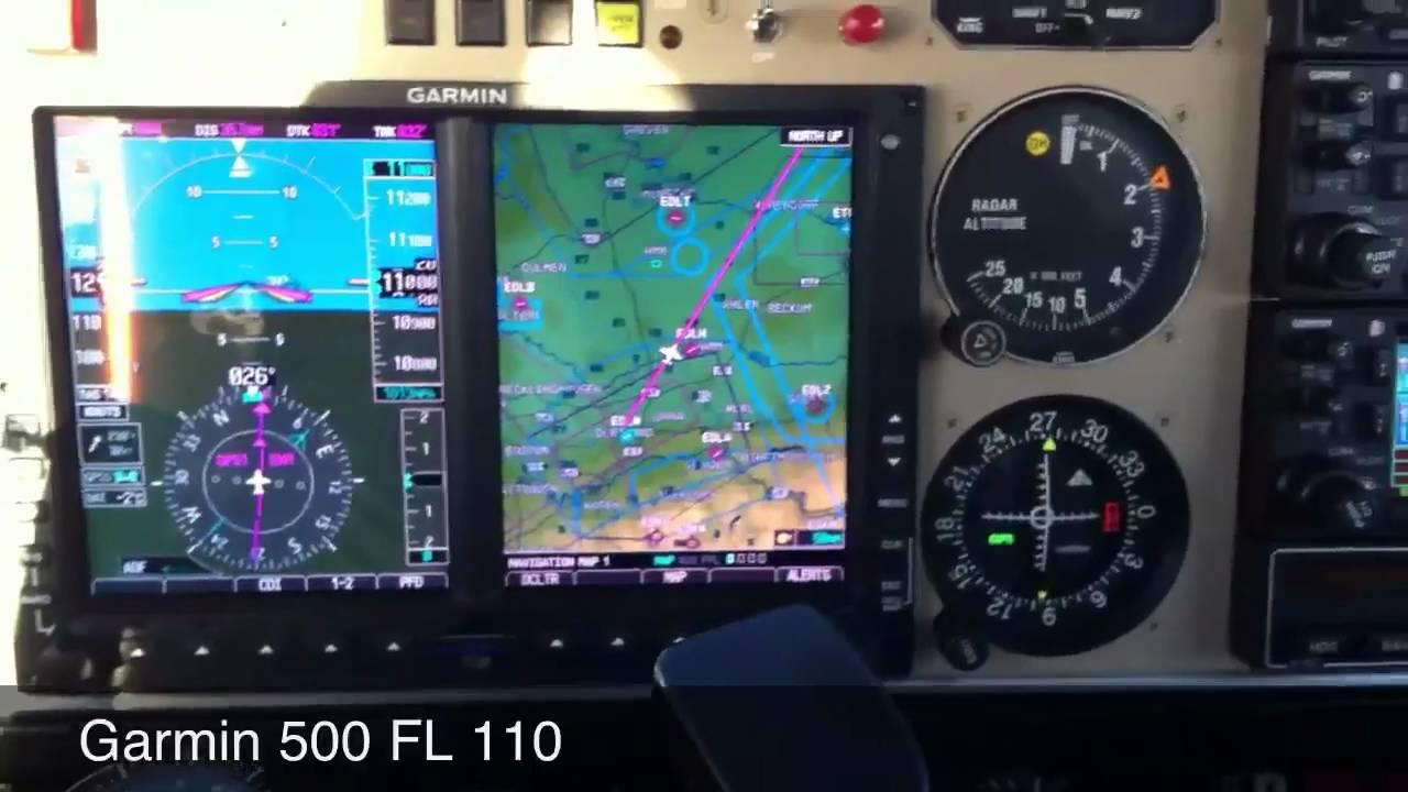 Garmin G500 in FL 110