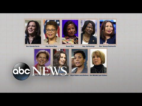 Who's on Joe Biden's VP list?