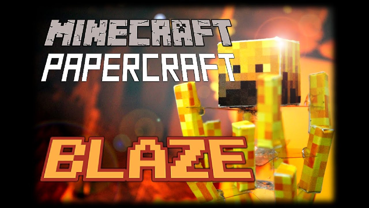 Papercraft How to make a Minecraft Papercraft Blaze with Stand