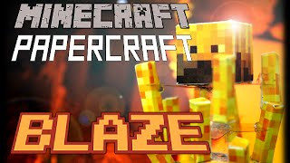 How to make a Minecraft Papercraft Blaze with Stand