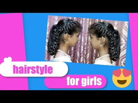 A Beautiful Braid hairstyle for girls. Hairstyles for Party/Weddings/Receptions/Brides. thumbnail