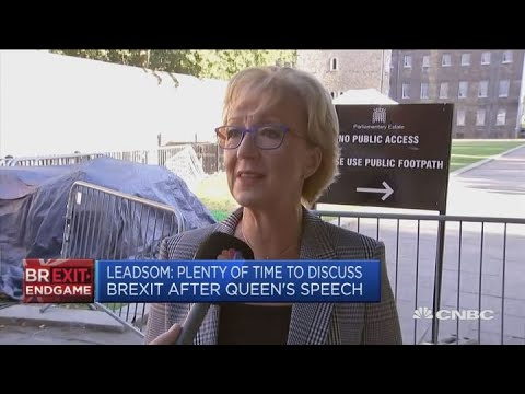 Confident proroguing parliament the right thing to do: Andrea Leadsom | Street Signs Europe