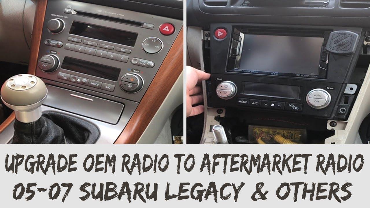 medium resolution of 2005 2009 subaru legacy outback aftermarket radio installation guide jdm