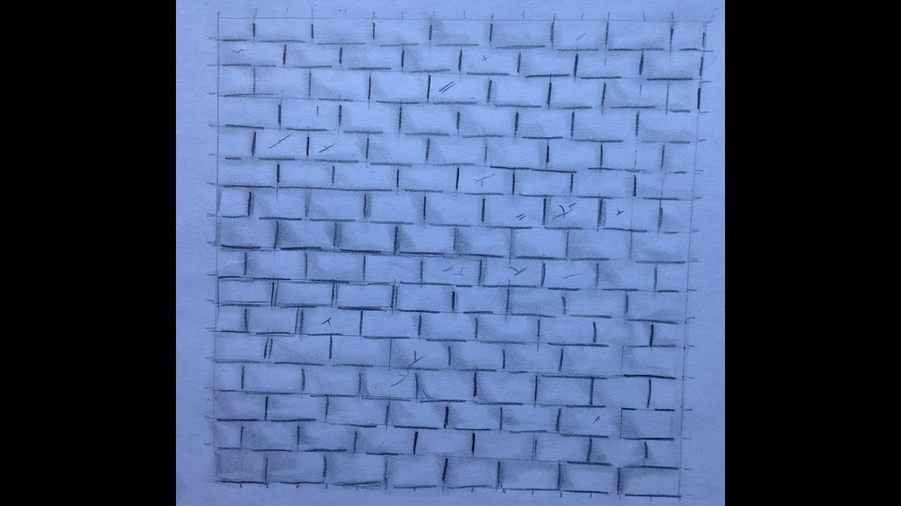 Cracked brick wall drawing brick wall - Try Ad Free For 3 Months