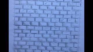 How to Draw a Brick Wall Step by Step