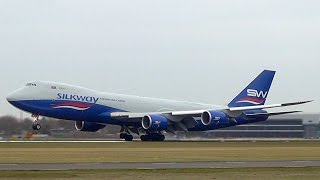 silkway boeing 747 8f vq bwy landing at amsterdam airport schiphol dutchplanespotter