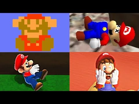 EVOLUTION OF MARIO DEATHS & GAME OVER SCREENS + Super Mario Odyssey  (1983-2017 - NES to Switch)