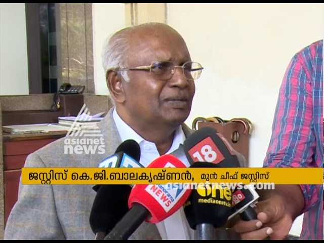 Justice KG Balakrishnan against judges who stood against SC Chief Justice