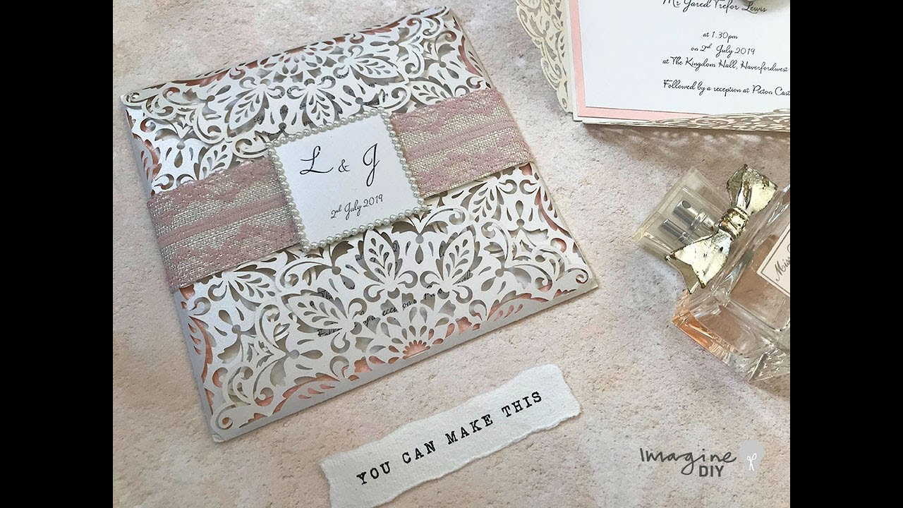 Diy Wedding Invitations With Lace How To Make Your Own