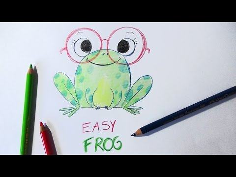 How To Draw A Frog Easy Way Comment Dessiner Une Grenouille Facilement