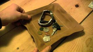 Muholland Brothers Change Base - Leather Coin And Key Valet Tray