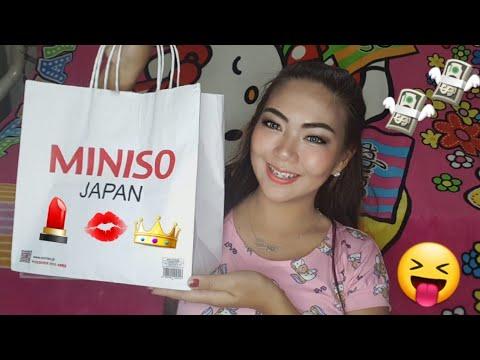 Miniso Makeup Haul Epic Try On Kemerot Youtube