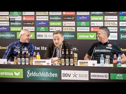36. Spieltag | SGD - Aue | Pressekonferenz nach dem Spiel