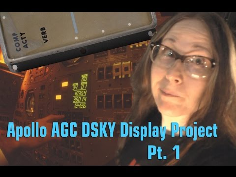 Apollo AGC DSKY Display Project, Pt.1