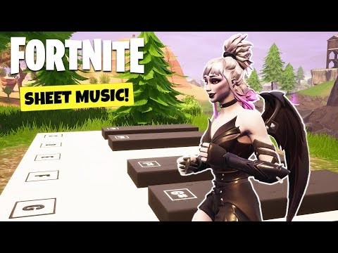 Fortnite WEEK  CHALLENGES GUIDE! - SHEET MUSIC Locations, Secret Banner (Battle Royale Season )