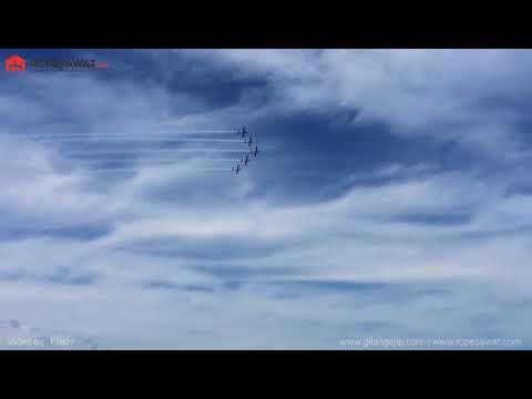 Jogja Air Show JAS 2018 Cuplikan Atraksi Pesawat Jupiter JAT TNI AU