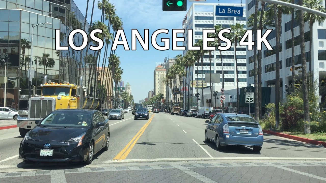 Hollywood 4K - Los Angeles Drive - California USA