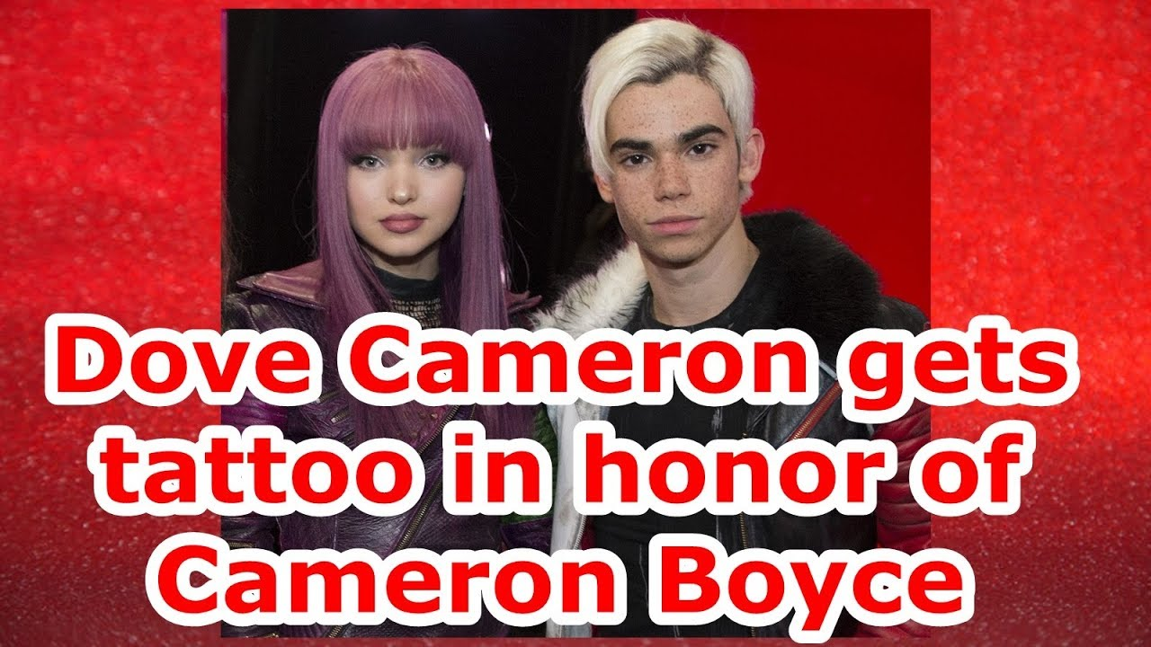 Dove Cameron Gets Tattoo In Honor Of Cameron Boyce Youtube