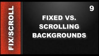 Web Design Tutorials for Xara Web Designer 9 Premium: Scrolling vs. Fixed Background Lesson 115