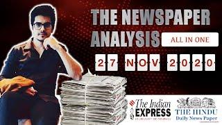 27 November 2020- The Indian Express analysis by Mayur Mogre