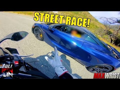 ALL OUT MCLAREN 720S Vs YAMAHA R1!